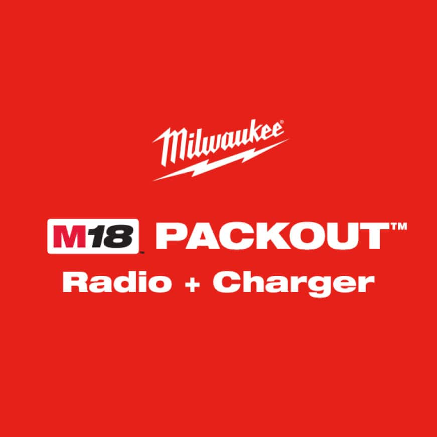 The M18(TM) PACKOUT(Tm) Radio + Charger is the most advanced radio built for the jobsite.