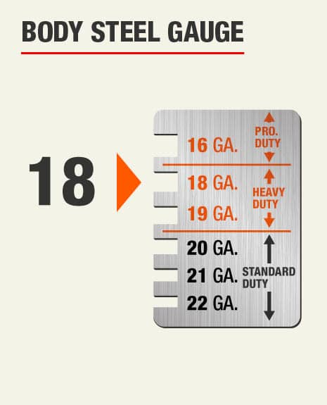 The Body Steel Gauge for this product is 18