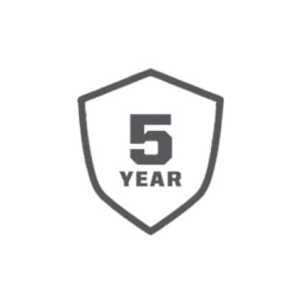 5 Year Limited Tool Warranty, 3 Year Limited Battery Warranty
