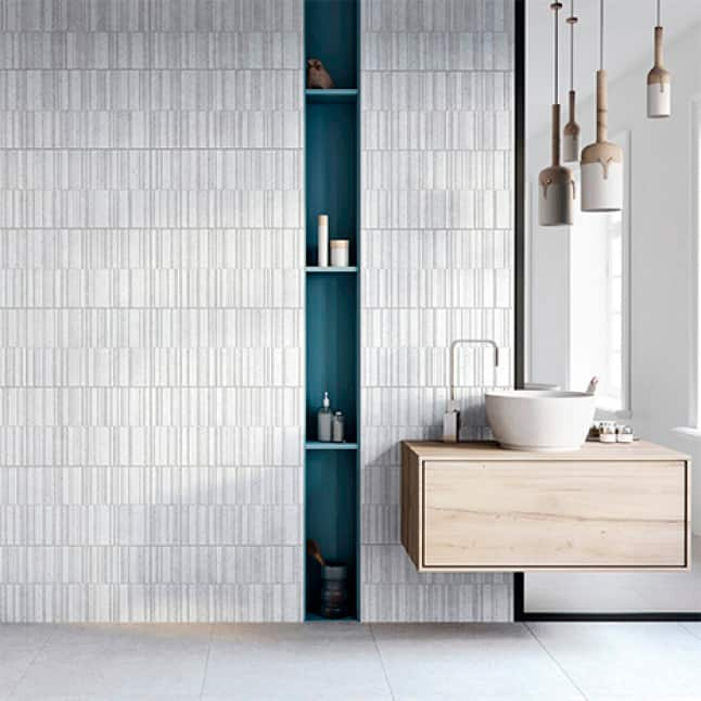 Ideal for wall shower areas, kitchen backsplash, walls and floors
