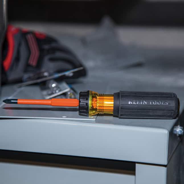 Klein Tools 32293 Insulated Flip-Blade Screwdriver