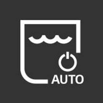 Icon of water bucket with the word auto