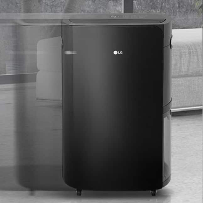 Dehumidifier rolling on casters