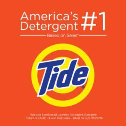 Tide is America's number 1 detergent based on sales