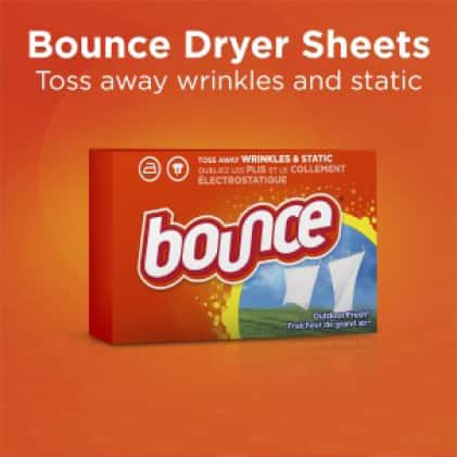 Bounce dryer sheets toss away wrinkles and static