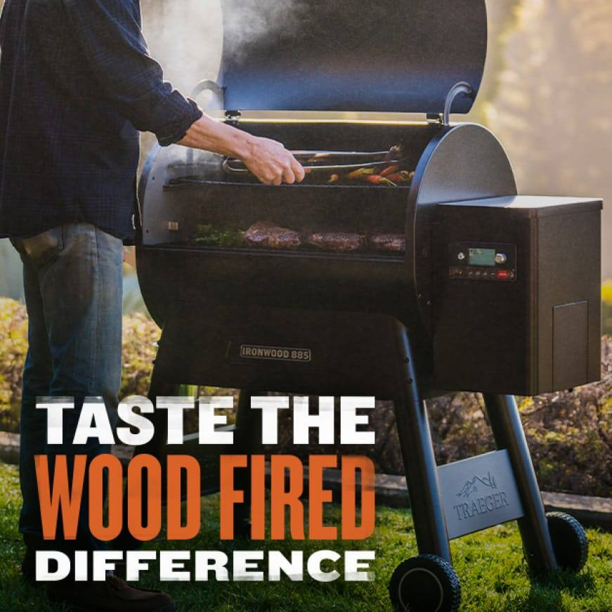 Traeger Grills - Taste The Wood Fired Difference - Ironwood 885