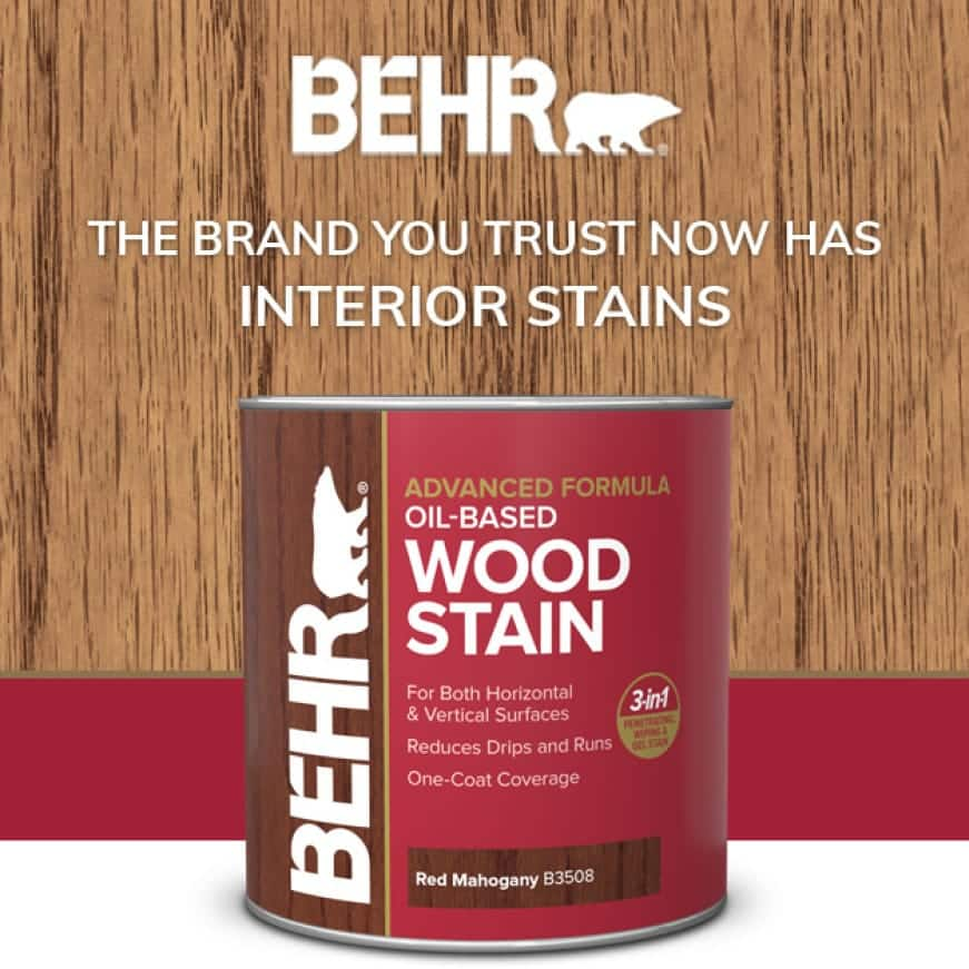 BEHR oil-based wood stain can