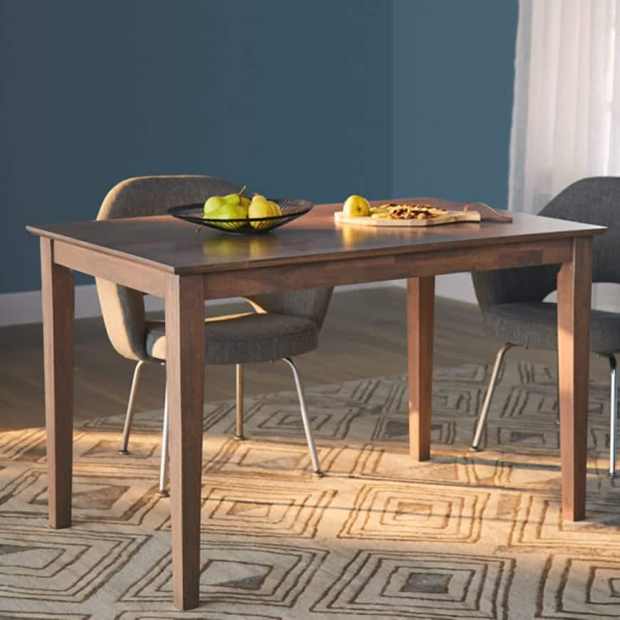 Brown stained kitchen table in color Mocha Coffee TIS-010