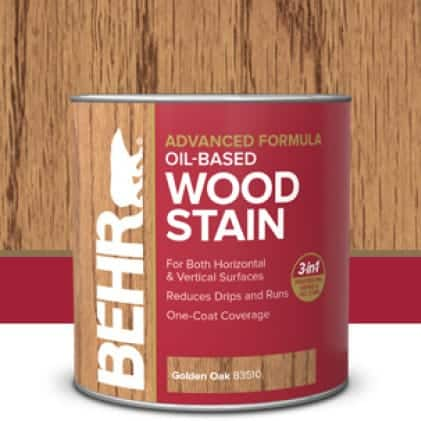 Behr interior oil-base wood stain can