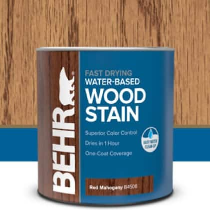 Behr interior water-base wood stain can