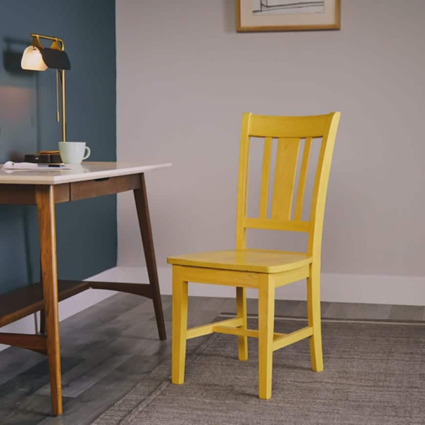 Chair stained with color Pineapple Green Tea TIS-015