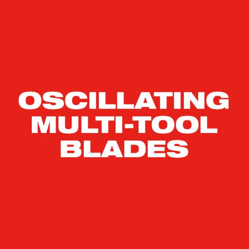Milwaukee Oscillating Multi-Tool Blades