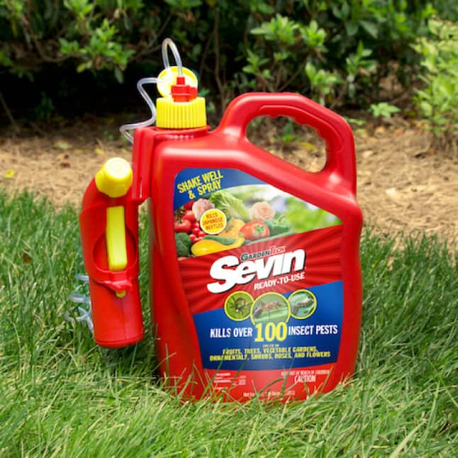 Sevin Ready-To-Use Insect Killer Power Sprayer after use