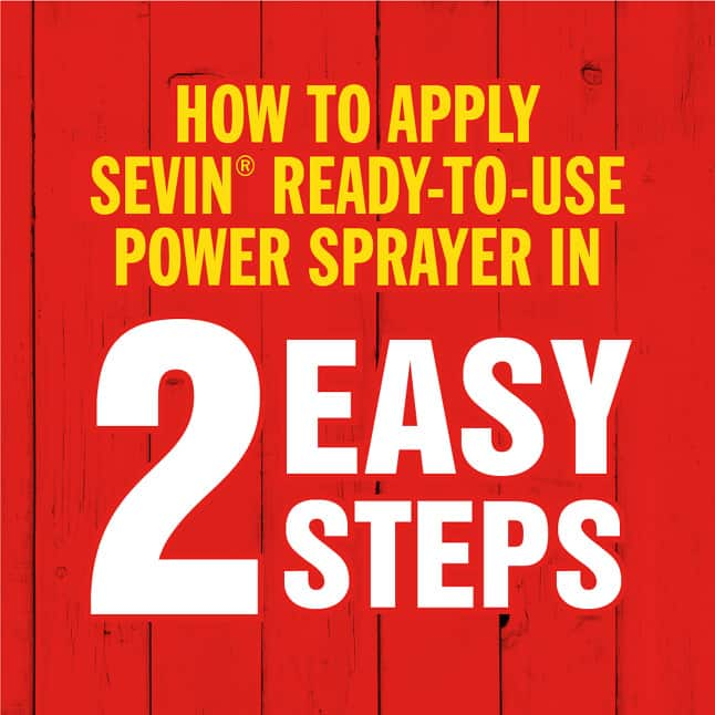 Sevin Ready-To-Use Insect Killer Power Sprayer how to apply