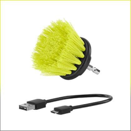Includes: 2 in. Medium Brush & Micro USB Cable