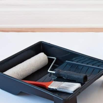 Use Mr. Clean magic erasers to prep walls before painting