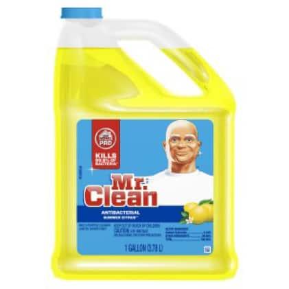 Mr. Clean multi-purpose antibacterial cleaner in lemon scent