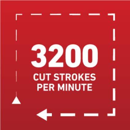 3,200 Cut Strokes Per Minute icon