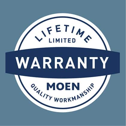 Backed up Moen's Limited Lifetime Warranty to ensure superior quality and reliability