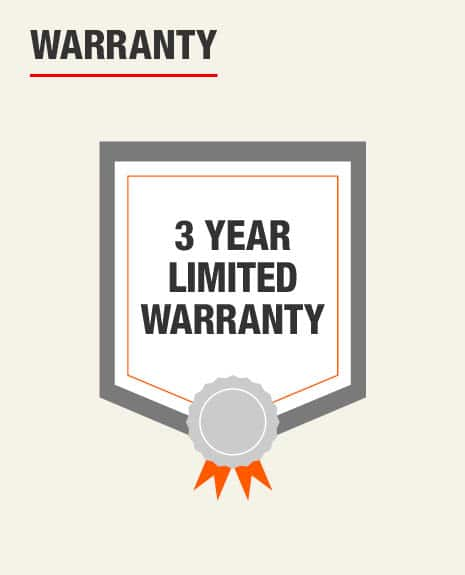 Warranty for this product is 3 Year Limited Warranty
