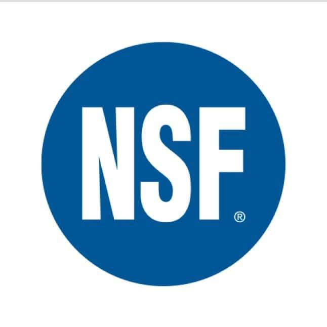 National Sanitation Foundation Certified