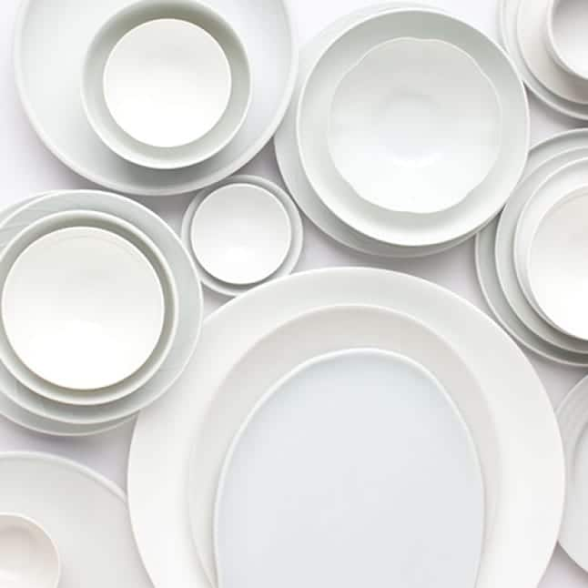 Clean dishes of all sizes