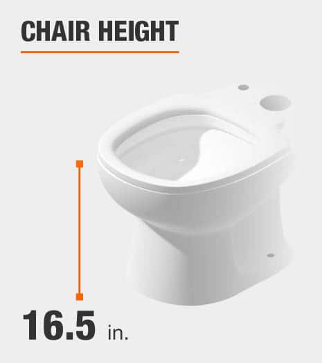 Chair Height is 16.5 inches