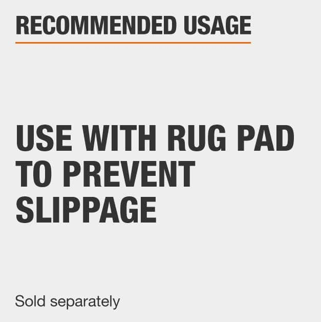 Use Rug Pad with area rug that is sold seperately