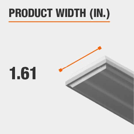 This light fixture has a width of 1.61 inches.