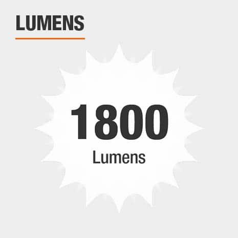 This light has a brightness of 1800 lumens.
