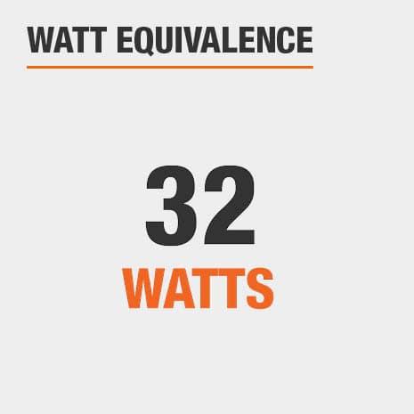 This light has a watt equivalence of 32 watts.