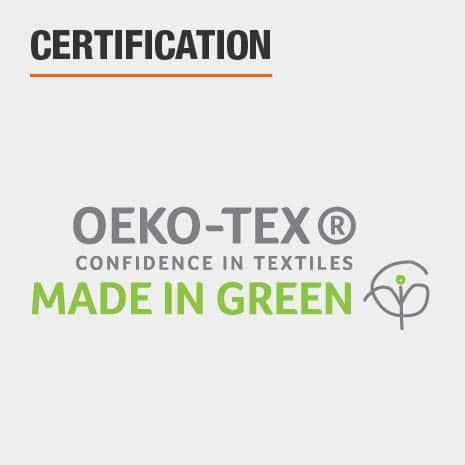 Towels are MADE IN GREEN by OEKO-TEX certified