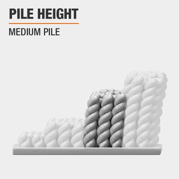 Area Rug has a Medium Pile height