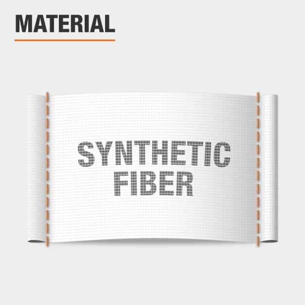 Area rug is made of Synthetic Fiber
