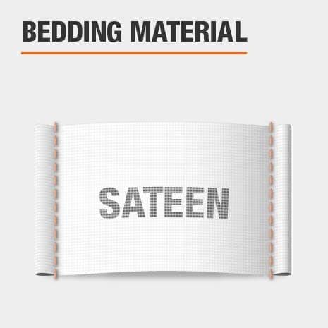 Duvet cover is made of sateen material
