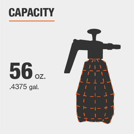 The capacity for this sprayer is 56 oz.