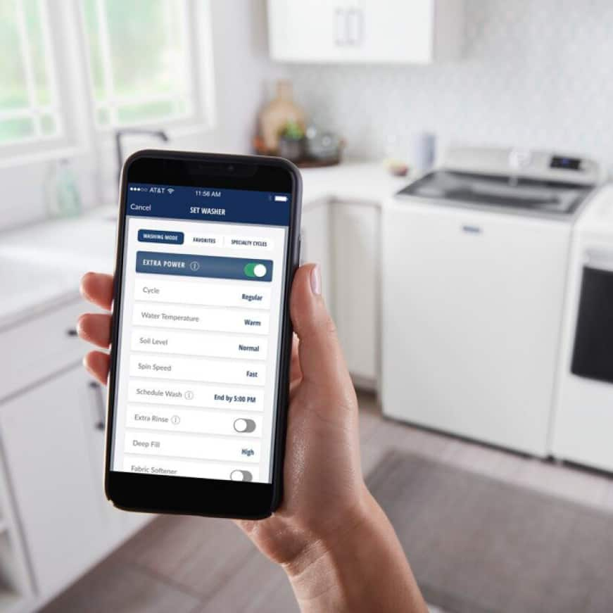 Manage laundry from anywhere with optional smart features.