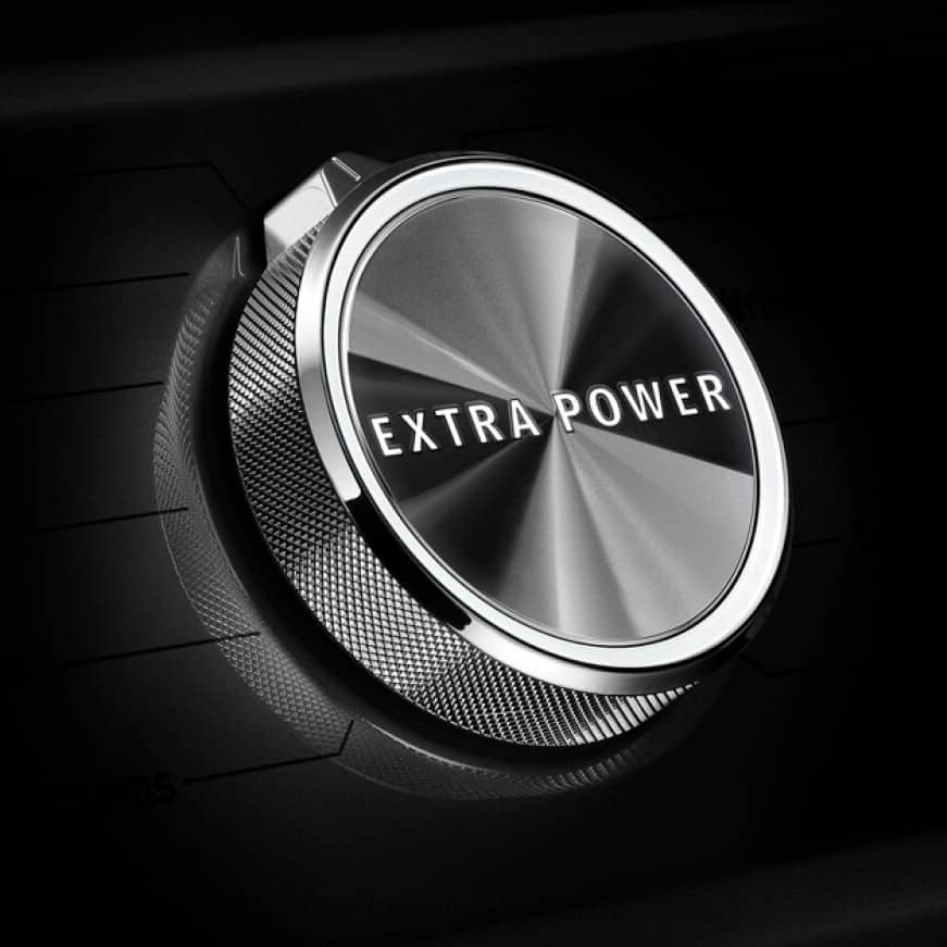The Extra Power button boosts stain-fighting performance.