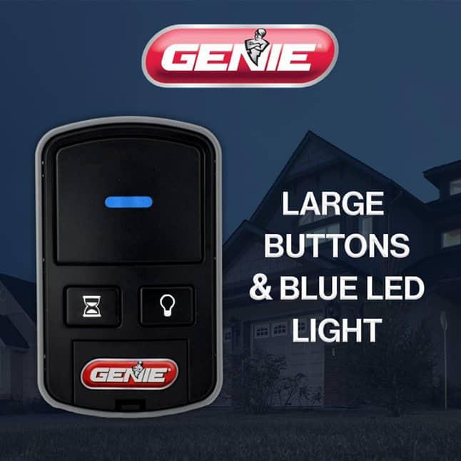 Genie garage door opener wireless console  blue led