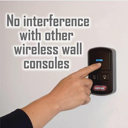Genie garage door opener wireless console  keep current wall control