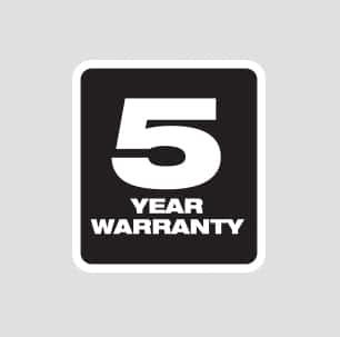 Five year Tool Warranty