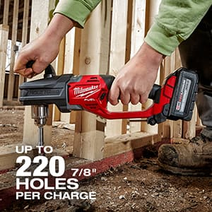 """Drill up to 220 7/8"""" Holes on one charge"""