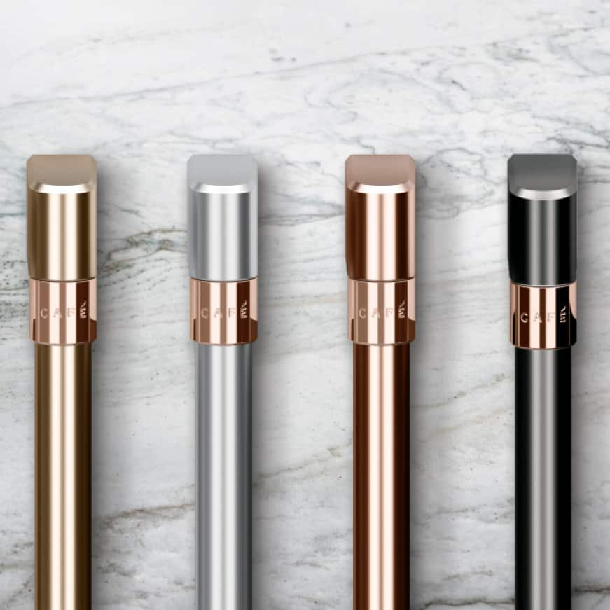 Image of customizable handles on a marble background