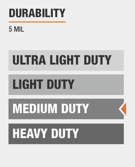 5 mil thick medium duty tarp
