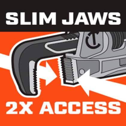 Slim Jaw Pipe Wrenches