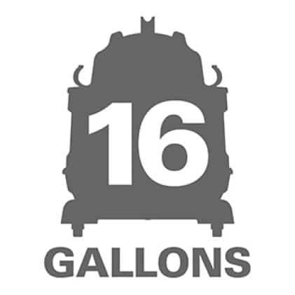 16 gallon capacity is our largest drum size.