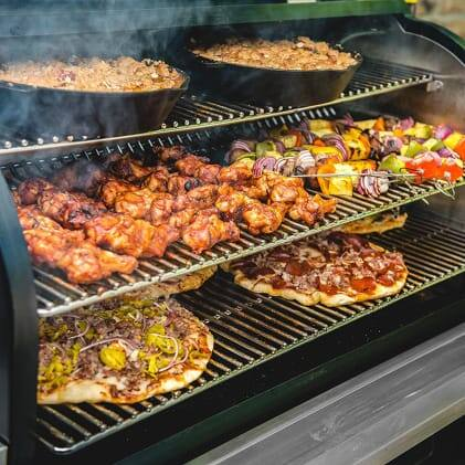 Traeger Grills - Square Inches - Timberline850 with food