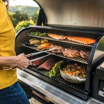 Traeger Grills - Square Inches - Timberline1300 with food