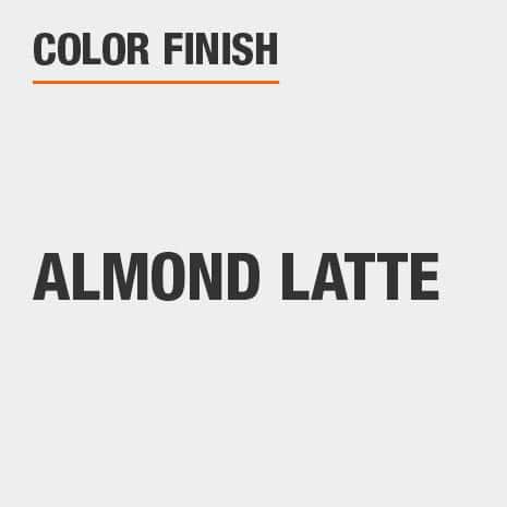 This bathroom vanity mirror color finish is Almond Latte