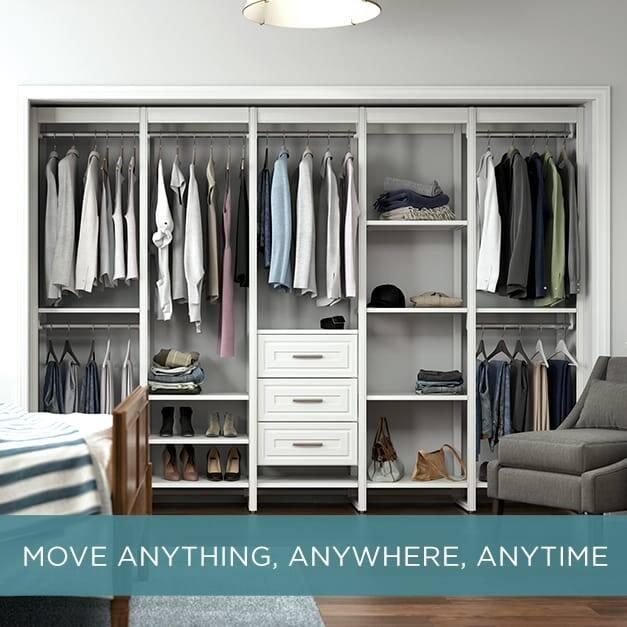 Image of 10 ft Customizable closet organization system